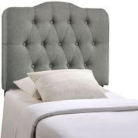 Modway Annabel Tufted Twin Headboard in Grey