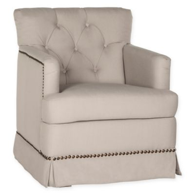Safavieh Millicent Swivel Accent Chair In Taupe