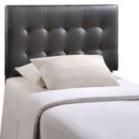 Modway Emily Twin Vinyl Tufted Headboard in Black