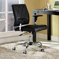 Modway Lattice Vinyl Office Chair in Black