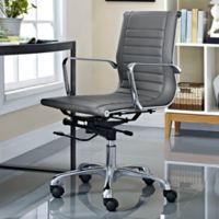 Modway Runway Mid-Back Office Chair in Grey