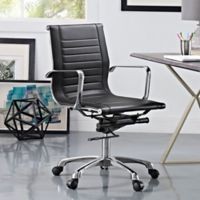 Modway Runway Mid-Back Office Chair in Black