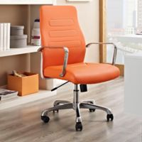 Modway Depict Mid-Back Office Chair in Orange