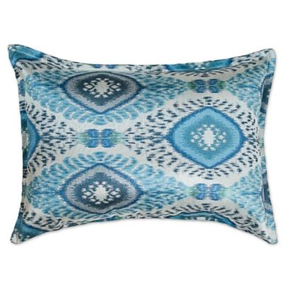 sherry kline dharti oblong throw pillow in pool