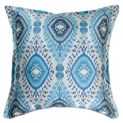 sherry kline dharti square throw pillow in pool