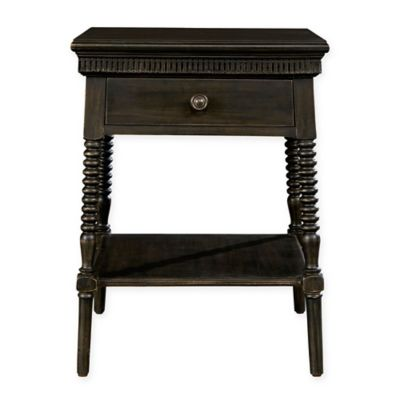 Buy bedside table from bed bath beyond stone leigh by stanley furniture smiling hill bedside table in licorice black watchthetrailerfo