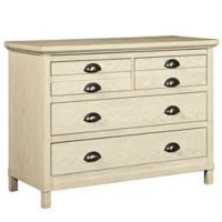 Stone & Leigh by Stanley Furniture Driftwood Park 4-Drawer Single Dresser in Vanilla Oak