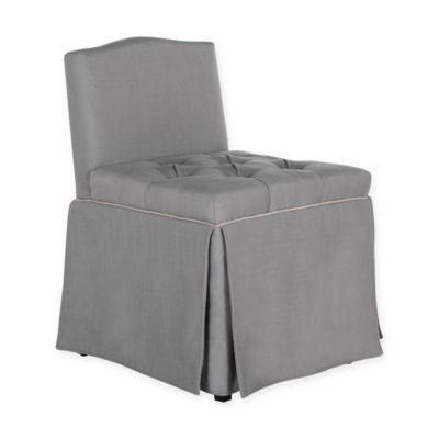 safavieh betsy vanity chair in grey