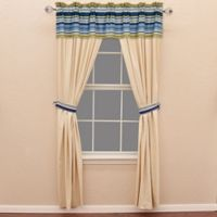 HiEnd Accents Beaufort 84-Inch Window Curtain Panel Pair in Natural