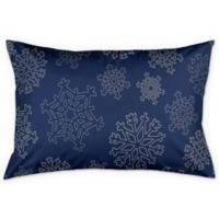 Snowflake King Pillow Sham in Blue/Silver