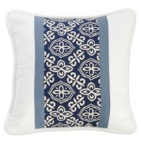 HiEnd Accents St. Clair Stripe 16-Inch Square Throw Pillow in Blue/White