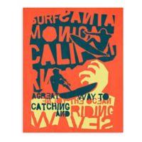 """GreenBox Art Murals That Stick """"Catching a Wave"""" 18-Inch x 24-Inch Wall Art"""
