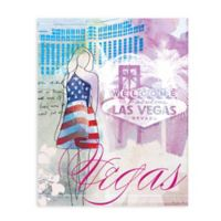 "GreenBox Art Murals That Stick ""City Girl - Las Vegas"" 18-Inch x 24-Inch Wall Art"