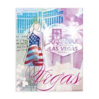 """GreenBox Art Murals That Stick """"City Girl - Las Vegas"""" 28-Inch x 35-Inch Wall Art"""