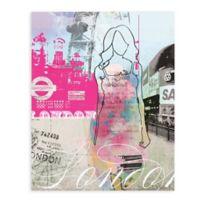 """GreenBox Art Murals That Stick """"City Girl - London"""" 18-Inch x 24-Inch Wall Art"""