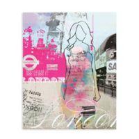 """GreenBox Art Murals That Stick """"City Girl - London"""" 28-Inch x 35-Inch Wall Art"""