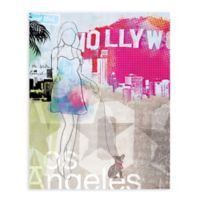 "GreenBox Art Murals That Stick ""City Girl - Los Angeles"" 28-Inch x 35-Inch Wall Art"
