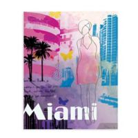 "GreenBox Art Murals That Stick ""City Girl - Miami"" 28-Inch x 35-Inch Wall Art"