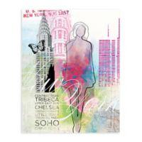 """GreenBox Art Murals That Stick """"City Girl - New York"""" 18-Inch x 24-Inch Wall Art"""