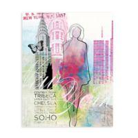 """GreenBox Art Murals That Stick """"City Girl - New York"""" 28-Inch x 35-Inch Wall Art"""