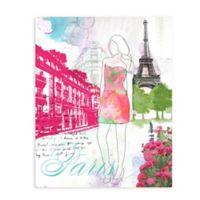 """GreenBox Art Murals That Stick """"City Girl - Paris"""" 28-Inch x 35-Inch Wall Art"""