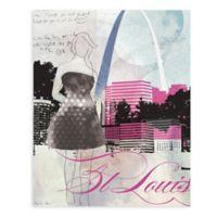 """GreenBox Art Murals That Stick """"City Girl - St. Louis"""" 18-Inch x 24-Inch Wall Art"""