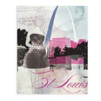 "GreenBox Art Murals That Stick ""City Girl - St. Louis"" 28-Inch x 35-Inch Wall Art"