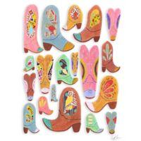"""GreenBox Art Murals That Stick """"Cowboy Boots"""" 28-Inch x 35-Inch Wall Art"""