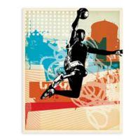 """GreenBox Art Murals That Stick """"Dunk City"""" 18-Inch x 24-Inch Wall Art"""
