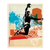 """GreenBox Art Murals That Stick """"Dunk City"""" 28-Inch x 35-Inch Wall Art"""