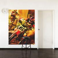 """GreenBox Art Murals That Stick """"Eat Sleep Race"""" 54-Inch x 72-Inch Wall Art"""