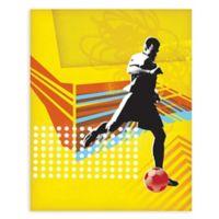 """GreenBox Art Murals That Stick """"Footballer"""" 18-Inch x 24-Inch Wall Art"""