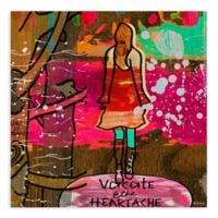 """GreenBox Art Murals That Stick """"Heartache"""" 18-Inch x 18-Inch Wall Art"""