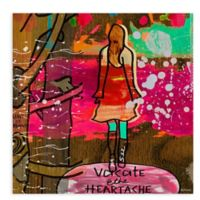 "GreenBox Art Murals That Stick ""Heartache"" 28-Inch x 28-Inch Wall Art"