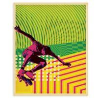 "GreenBox Art Murals That Stick ""High Voltage Skate"" 28-Inch x 35-Inch Wall Art"