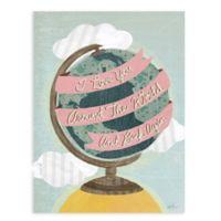 "GreenBox Art Murals That Stick ""I Love You Around the World"" 18-Inch x 24-Inch Wall Art"