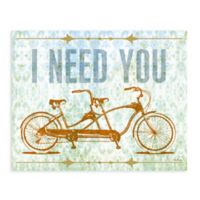 "GreenBox Art Murals That Stick ""I Need You"" 35-Inch x 28-Inch Wall Art"
