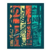 """GreenBox Art Murals That Stick """"Island Sun"""" 18-Inch x 24-Inch Wall Art"""