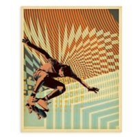 "GreenBox Art Murals That Stick ""Low Voltage Skate"" 18-Inch x 24-Inch Wall Art"