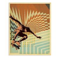"GreenBox Art Murals That Stick ""Low Voltage Skate"" 28-Inch x 35-Inch Wall Art"