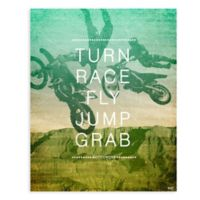 "GreenBox Art Murals That Stick ""Motocross Action"" 18-Inch x 24-Inch Wall Art"