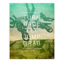 "GreenBox Art Murals That Stick ""Motocross Action"" 28-Inch x 35-Inch Wall Art"