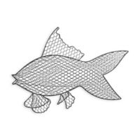 Wire Fish Wall Art with Iron Grey Finish