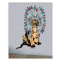 GreenBox Art® Headdress Tiger Wall Art
