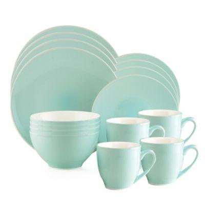Thomson Pottery Liane Frost 16-Piece Dinnerware Set  sc 1 st  Bed Bath \u0026 Beyond & Buy Green Stoneware Dinnerware Sets from Bed Bath \u0026 Beyond