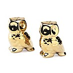 Studio TU® by Tabletops Unlimited® Oro Owl Salt and Pepper Shakers