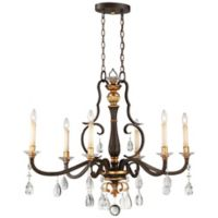 Metropolitan Chateau Nobles 6-Light Island Light in Bronze/Gold