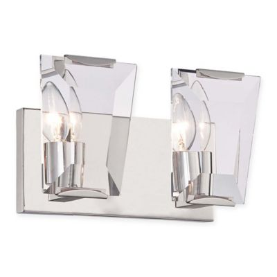 Castle Aurora 2-Light Bathroom Wall Sconce in Polished Nickel - Bed Bath & Beyond
