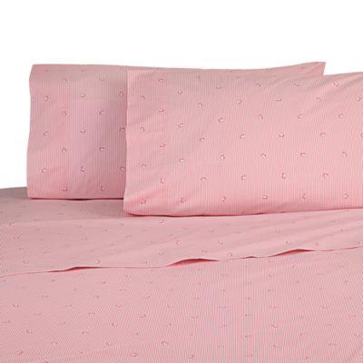 southern tide skipjack stripe full sheet set in pink