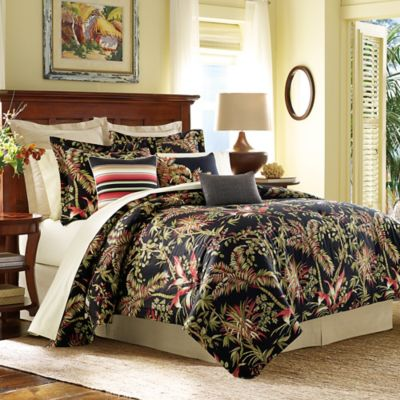 Tommy Bahama® Jungle Drive Queen Comforter Set In Black